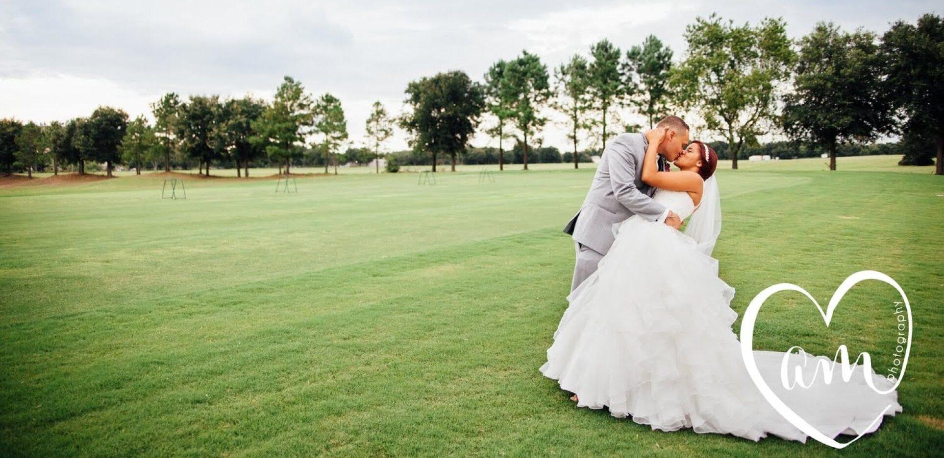 bride and groom during wedding at Arlington Ridge Golf Club