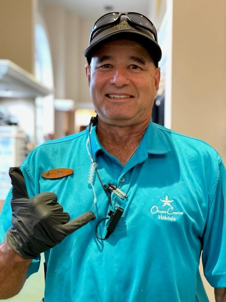 Ricky Brun Starter at Ocean Course Hokuala