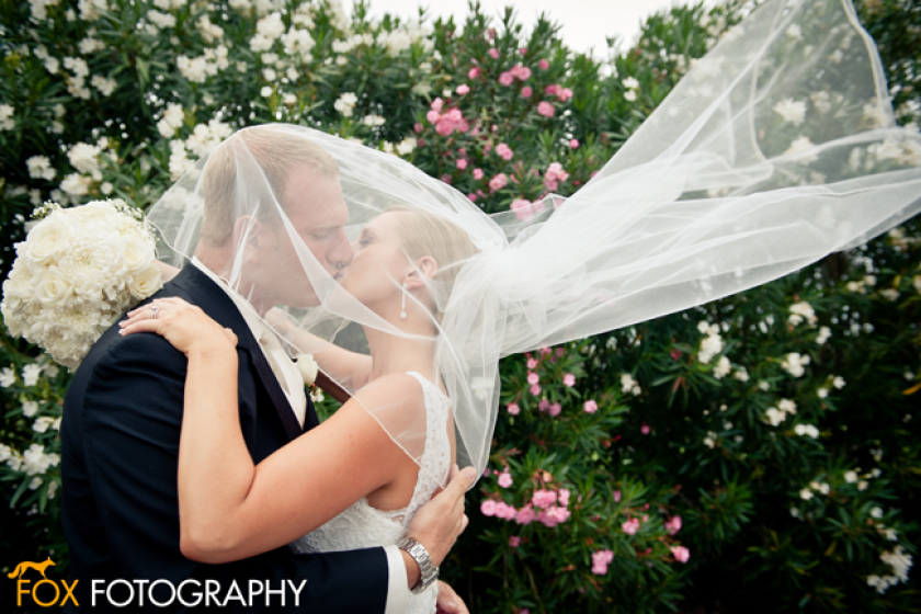 Bride and Groom at Fernandina Beach Golf Club wedding