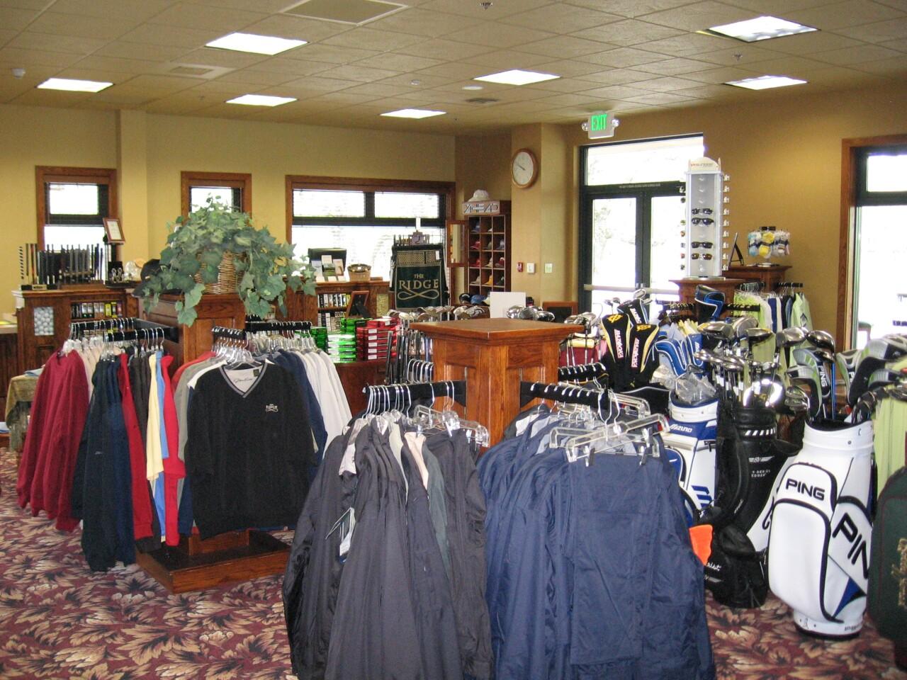 golf shop at The Ridge Golf Course