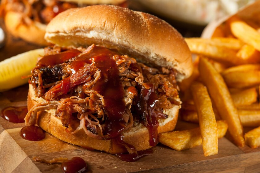 BBQ Pulled Pork Sandwich with Fries