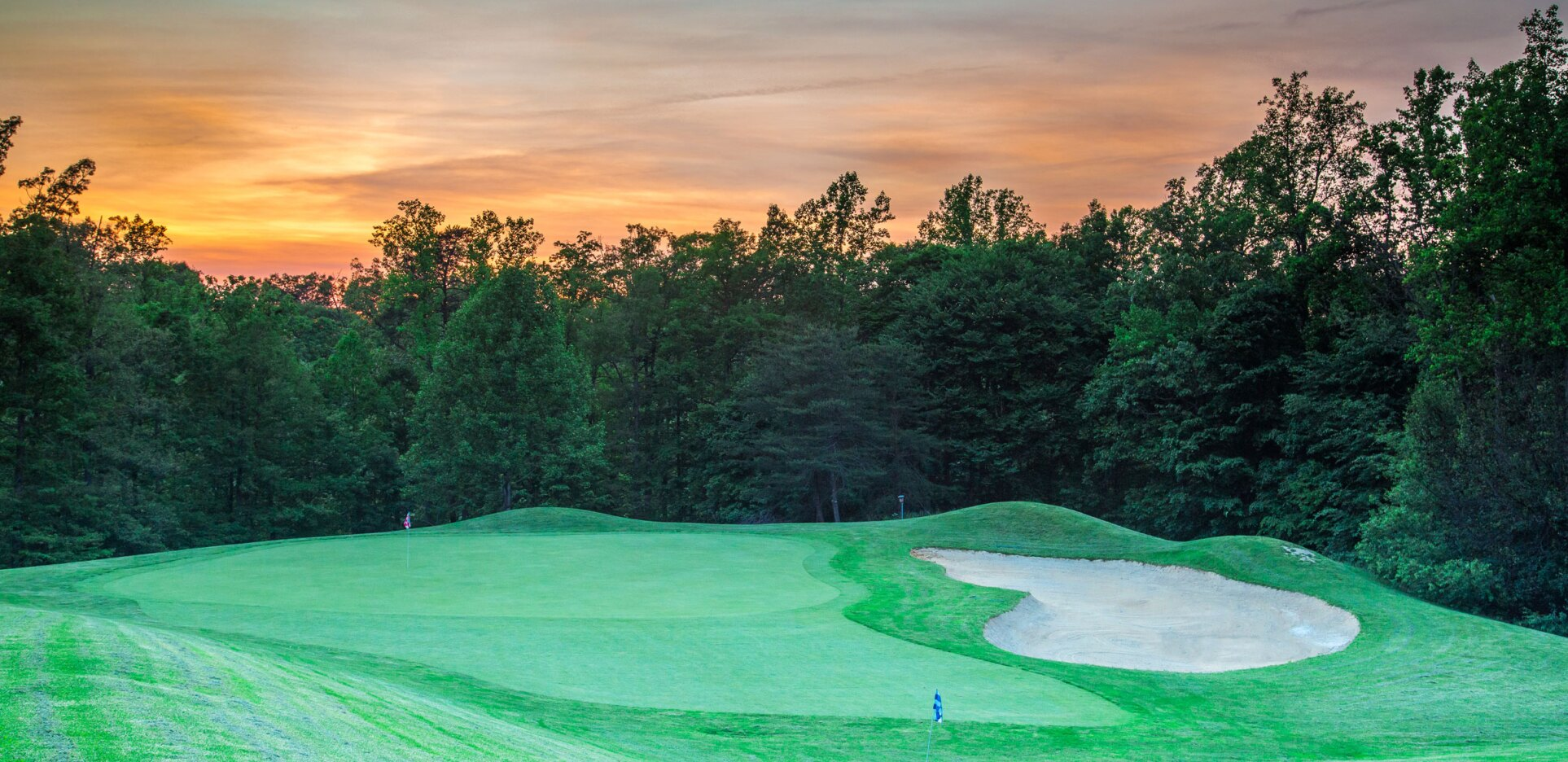 Lake Ridge Golf Course, sunset