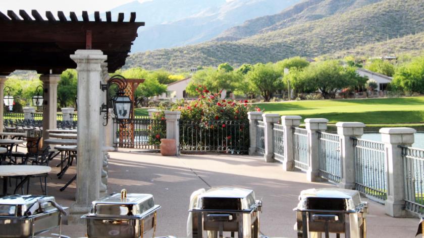 Arizona National golf course wedding or banquet buffet set up