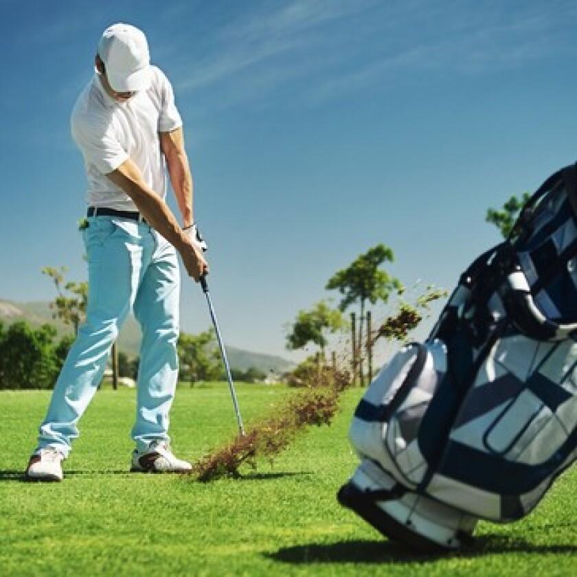 Upcoming Events Man Hitting Golf Shot