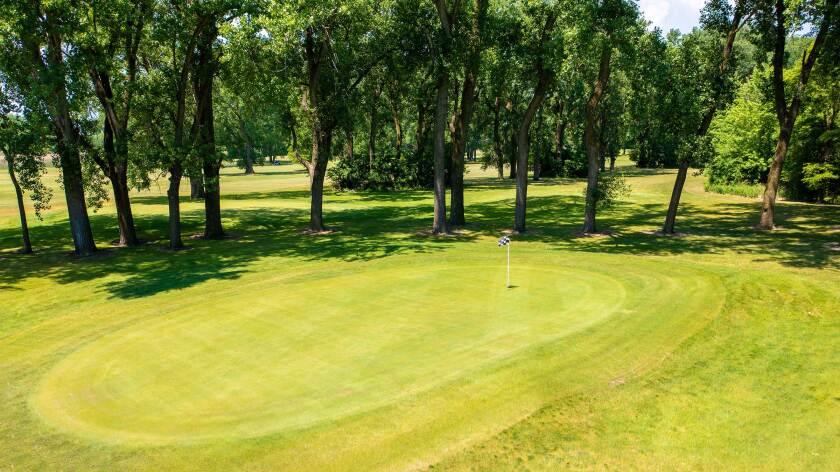 Burnham Woods Golf Course Overhead Drone Photography